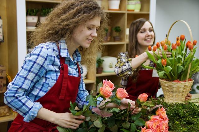 obchod s květinami