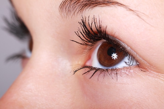 nalíčené oči