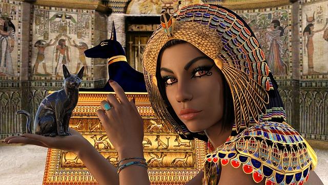 kleopatra s kočkou