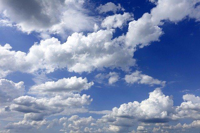 mraky, nebe